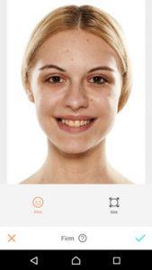 アプリでプロフィール写真のシワが取れた