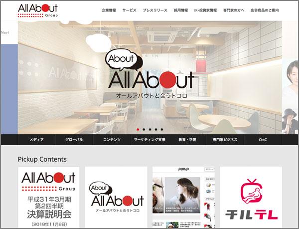 allaboutもWordPressで作られたサイト