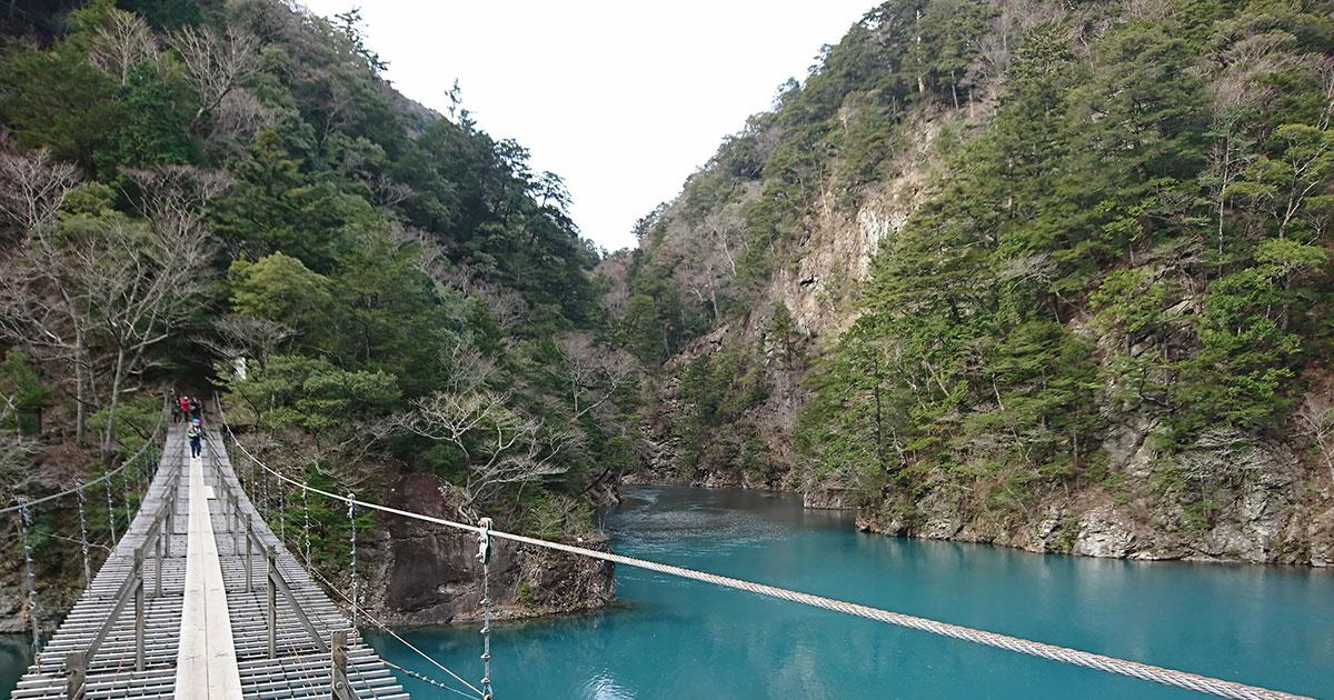 寸又峡の夢の橋